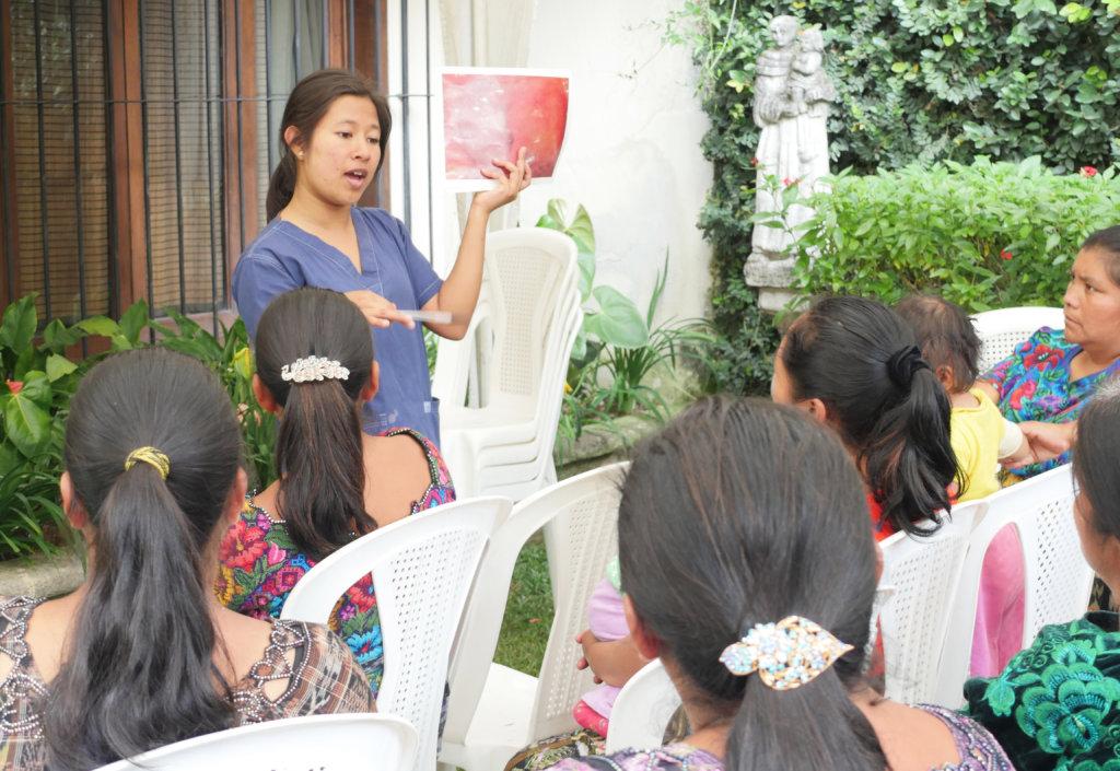 Educational talk about cervical cancer