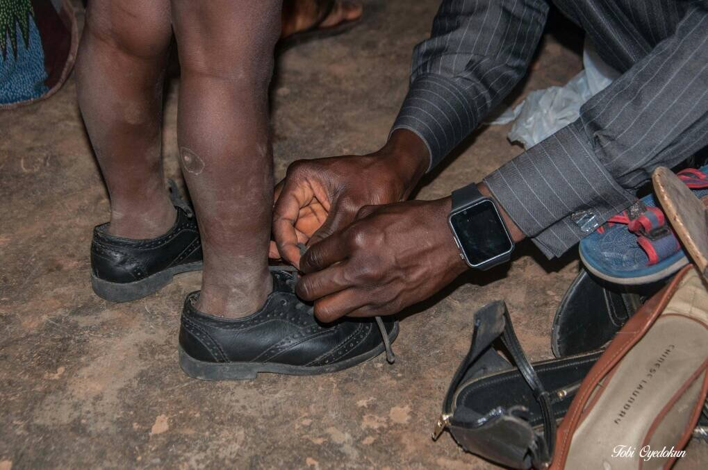 First Shoes For This IDP Child