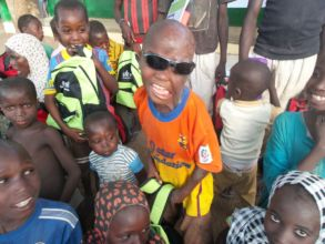 Sani & other child survivors in northern Nigeria