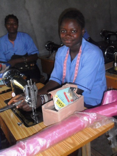 Bintu - Trainee at the tailoring school