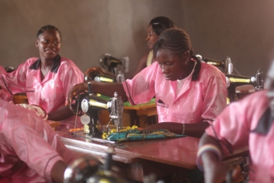 Hard at work - tailoring trainees
