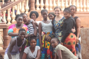 Tailoring Trainees with Cecelia in her new dress