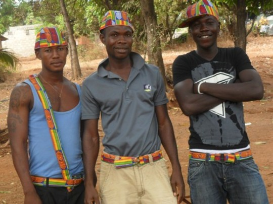 youths with belts and hats
