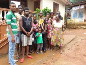 A Cross Section of  the Students and Joshua