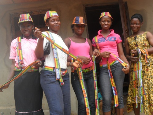 Ladies with belts and hats