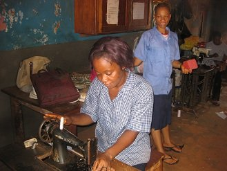 Sewing trainees
