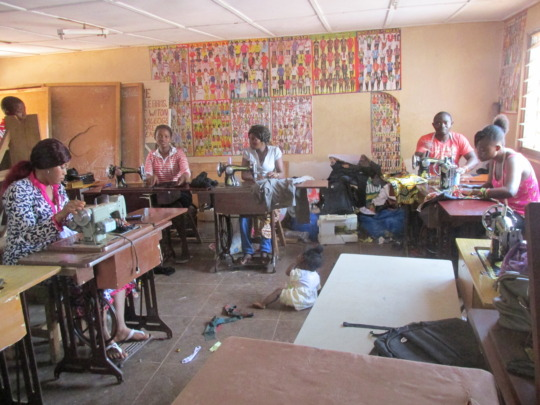 Busy day at tailoring school