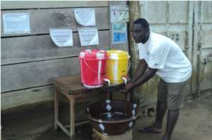 Community handwashing station