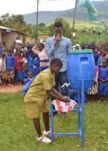 Washing of hand at a time