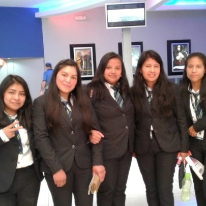 Aura(second right) at her  bookkeeping practicum.