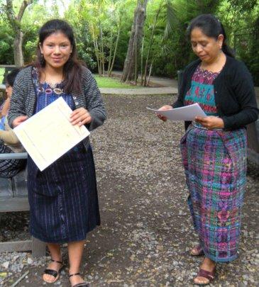 Glenda and Project Coordinador Carmela Paz