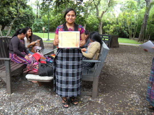 Loyda with her Certification