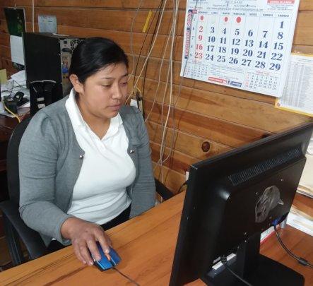 Yanira in the Rancho Sierra Office
