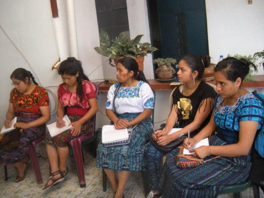 Interns participating in Tax Workshop