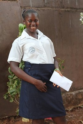 Fatmata is full of hope - all smiles