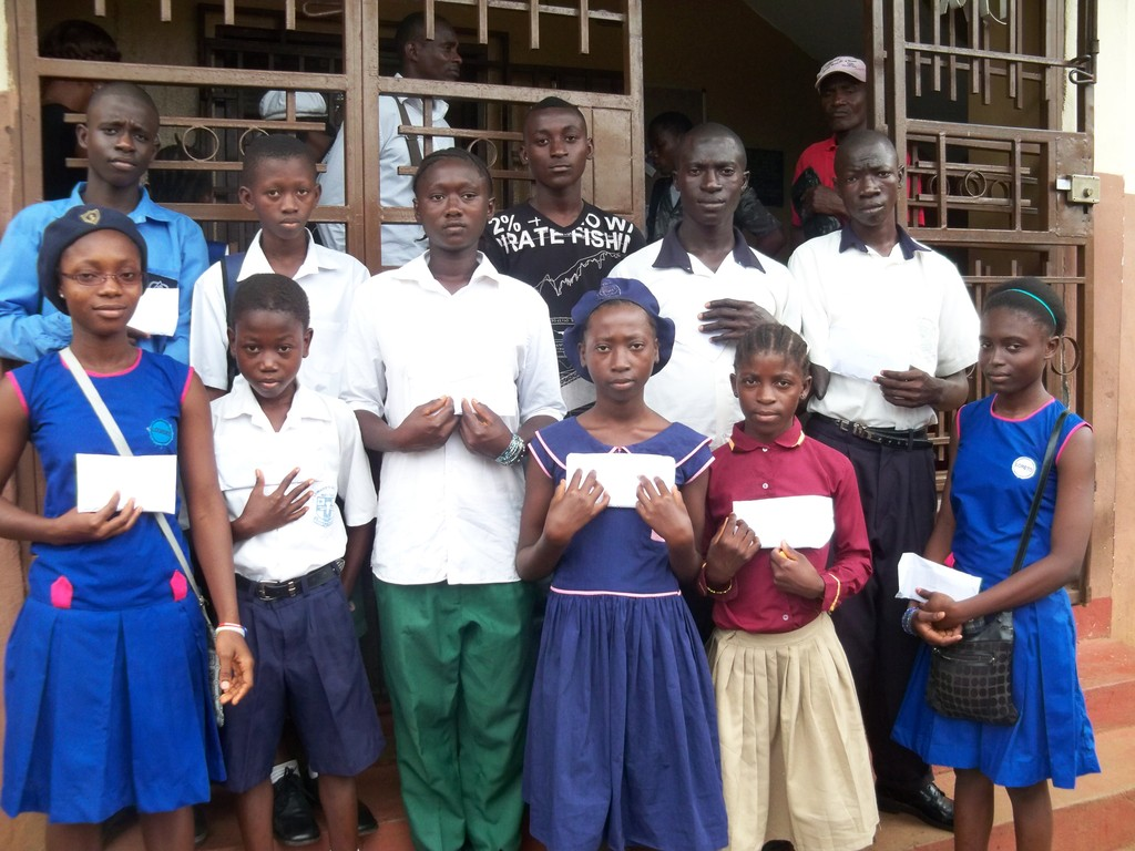 children who are receiving scholarships