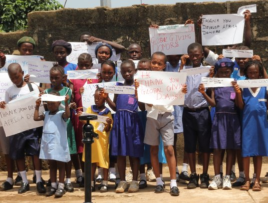 Group of children - Thank You GlobalGiving Signs