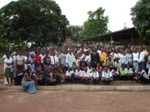 A group photo with participants
