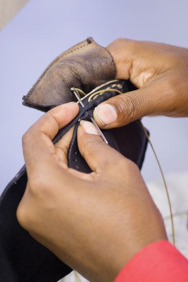 stitching shoes to save lives in South Africa!!!