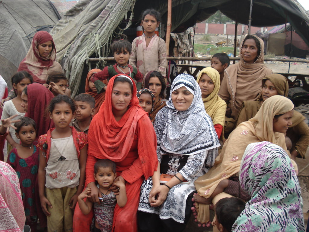 Zareen Chairperson with homeless women & children