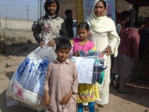 children received warm clothes & blankets
