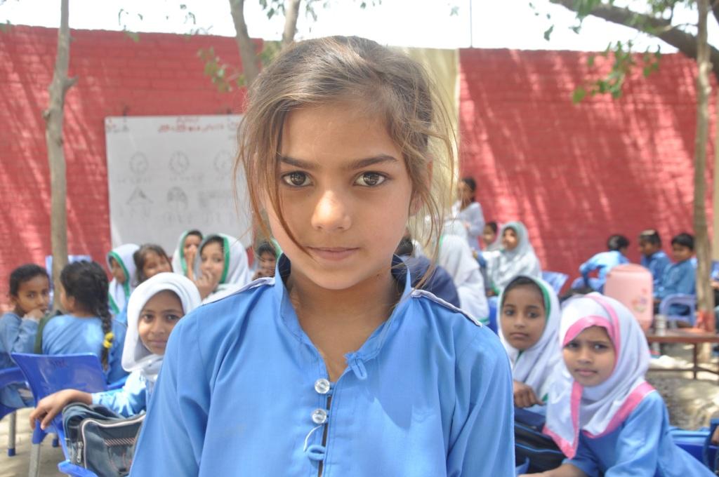 Samina travel 6km daily to reach school