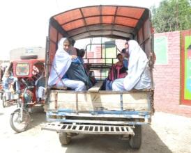 15% girls cannot afford school bus fee