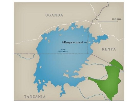 Map of Lake Victoria