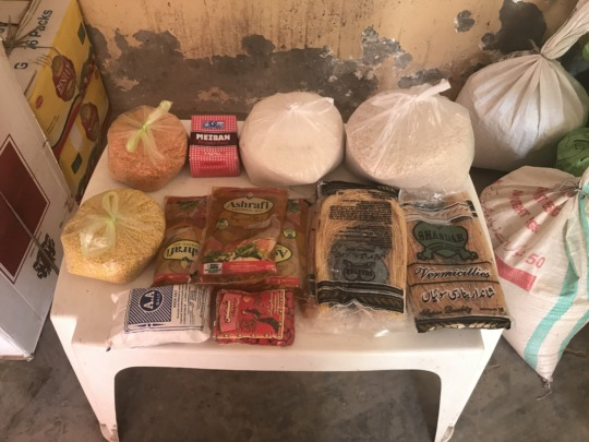 Food package picture which showing yhe items