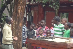 Kids being taught on sustainable energy