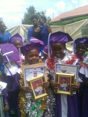 Zainabu with the certificates!!!