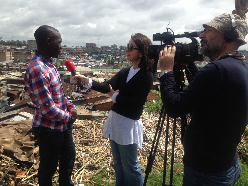 Interviews with ORF Rome on life in Mathare