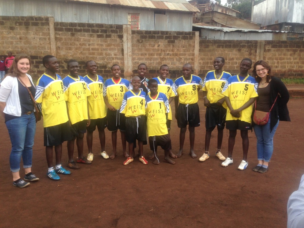 Football kits to the 20 teams of MPL in Mathare