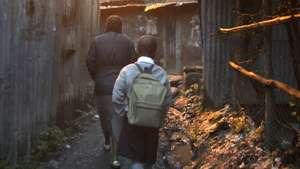 Kids reporting to school