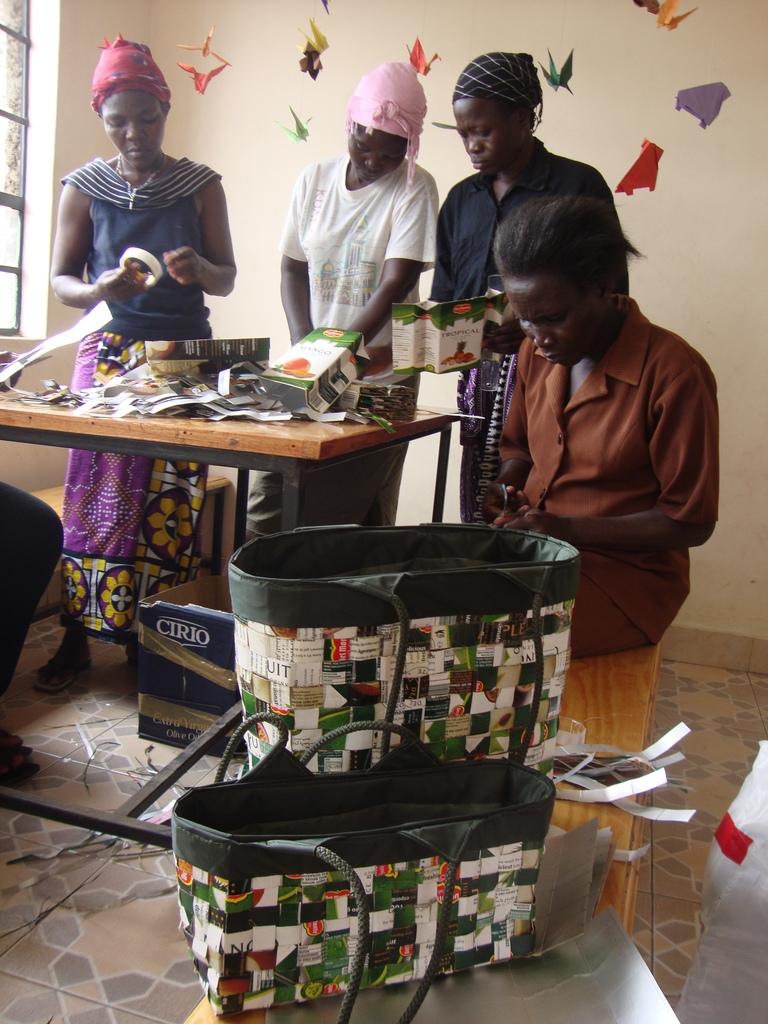 Handbag making by our Mamas