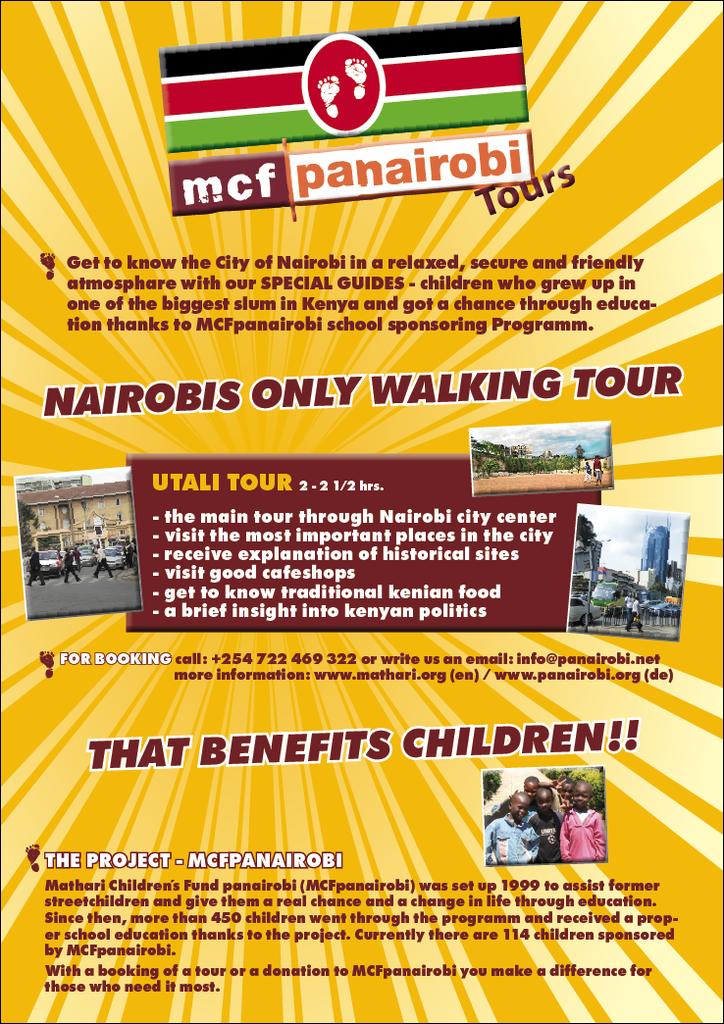 Nairobi Walking Tours Poster
