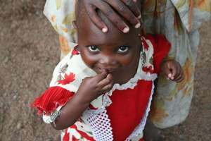 Displaced congolese child