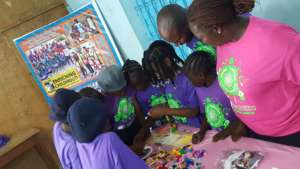 Naomi is leading the Lego station in Minna,Nigeria