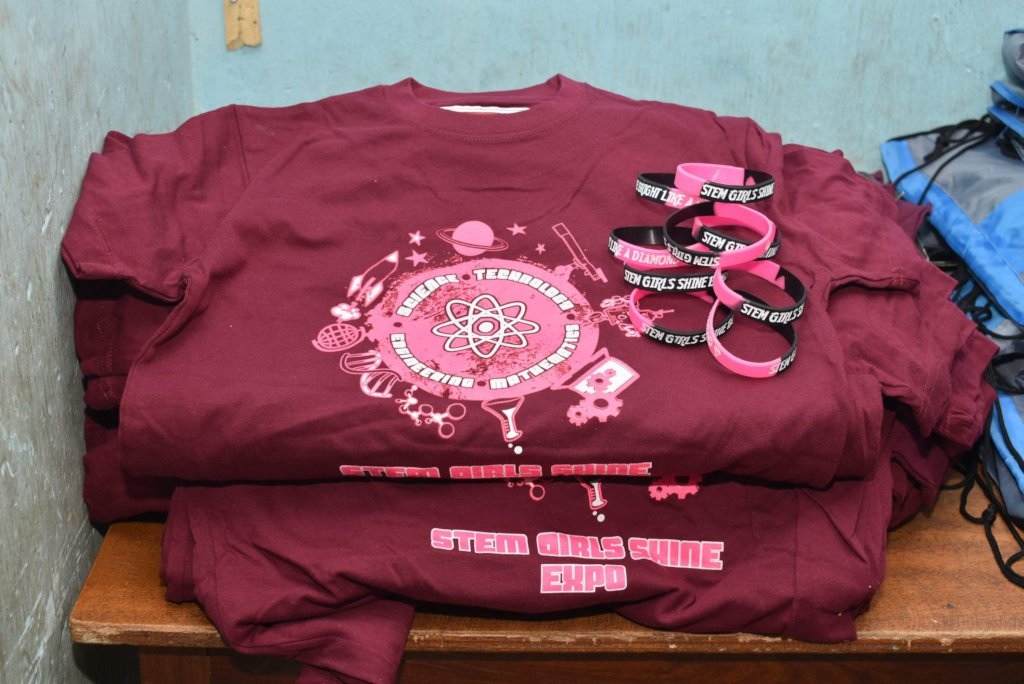 T-Shirts and wristbands for STEM Girls Shine Expo