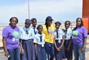 Some Students and Teachers at the Dam complex.