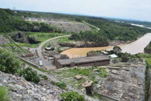 View of the Hydroelectric dam complex.