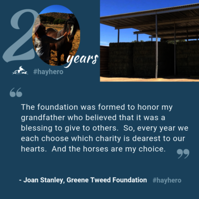 Thank you for being a #hayhero like Joan Stanley!