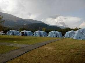 Montegallo - First relief camp