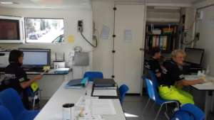 Montegallo - Operational office in a relief camp