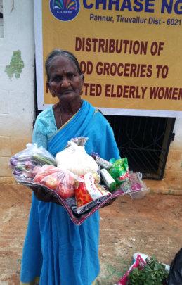 Provide food groceries to Neglected elders