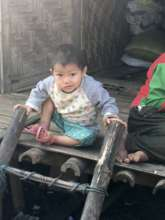 Child in refugee camp.