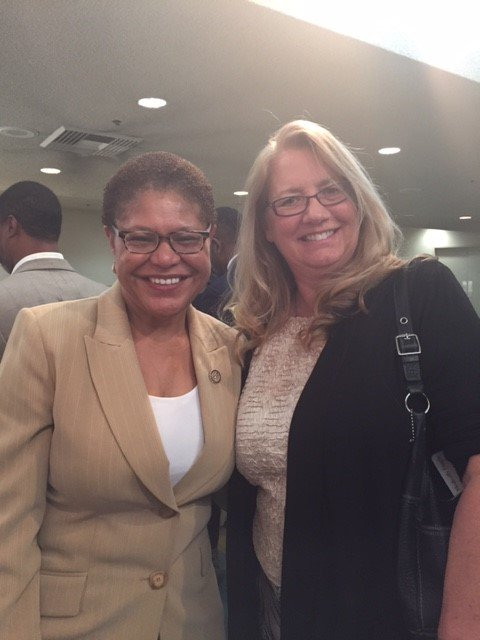 Honorable Karen Bass and AIW Founder Linda West-Co