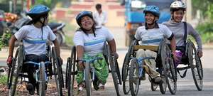 Women's Wheelie Team on the Move