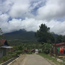 Mount Lubuk Raya (1,900m) hidden behind clouds