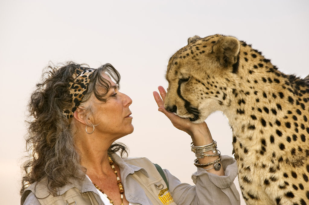 Laurie Marker & Chewbaaka, photo by Frans Lanting